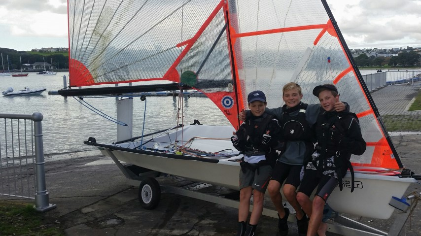 Eli Liefting, Charlie Thomlinson, and Henry McLachlan ready to get on the water!