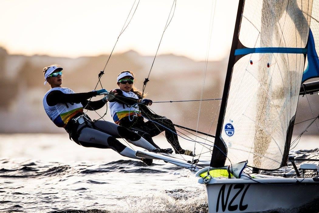 Alex Maloney & Molly Meech. Photo by Sailing Energy / World Sailing