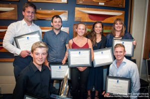 Sally, far right, with her YNZ Service Award with other award winning RAYC members.