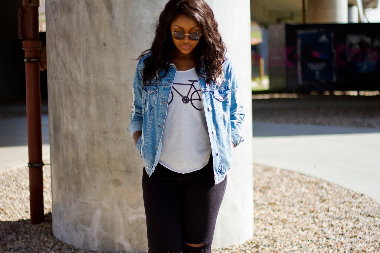 raychel-says-new-beginings-denim-jacket-white-top-black-jeans-converse