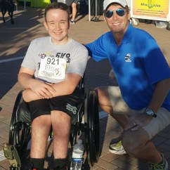 Wheelchair Drake Red Vanity Chair Hosted A 5k Here S Runner Burns Ray Collins