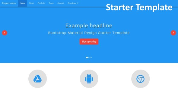BMD – Bootstrap + Material Design (Bootstrap) – VpnWP