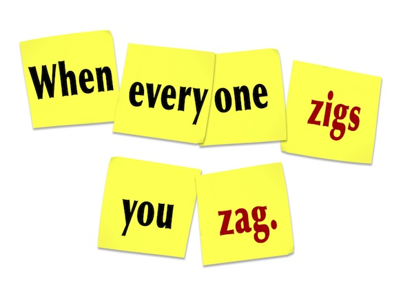 Image result for when others zig you zag