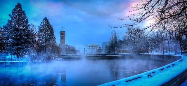 I took this photo of Spokane's Riverfront Park using my Sony NEX-7