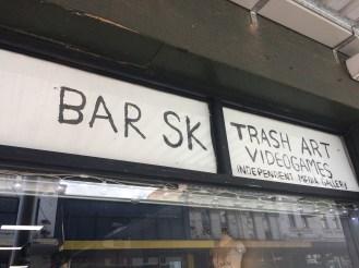 Front sign at Bar SK
