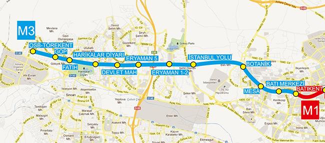 ankara m metro stations