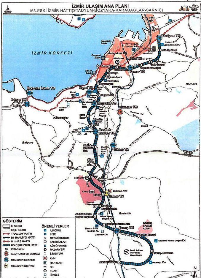Halkapınar Karabağlar metro line