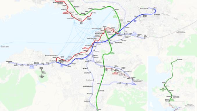 Izmir Railway Map
