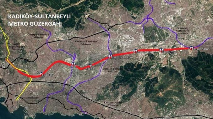 Kadikoy Sultanbeyli metro line