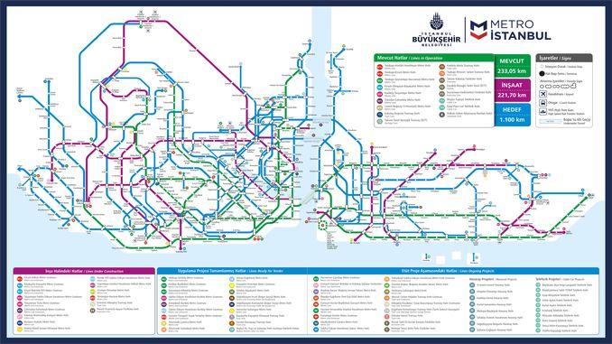 Stambulas metro un metro autobusu līniju nākotnes plāns