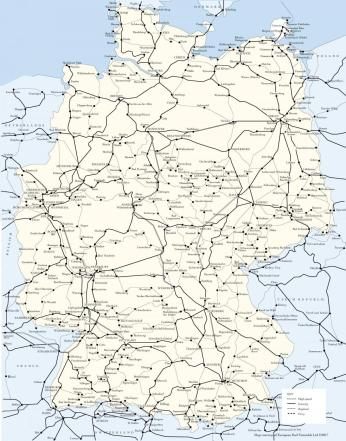 germany railway map