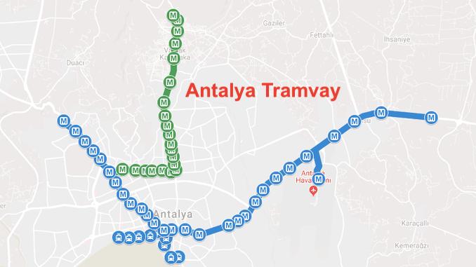Карта на Анталия Антрей