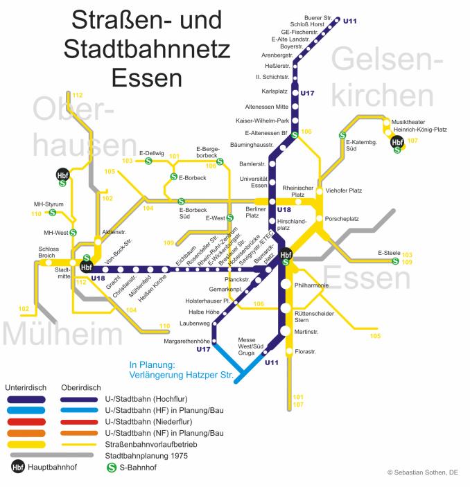 essen metro map