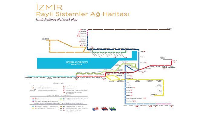 Karte von Izmir Metro