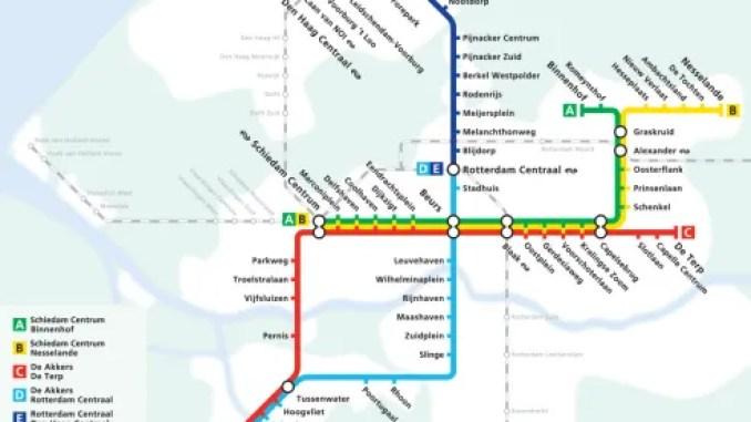 Map of Rotterdam Metro