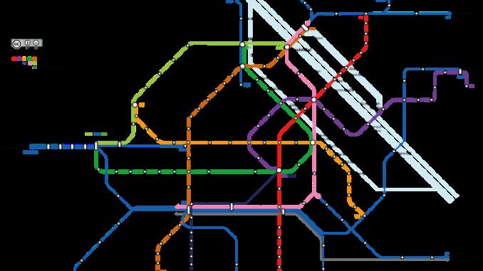 vienna metro map detail