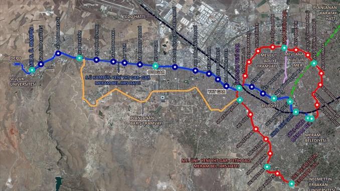 U-Bahn-Karte von Konya