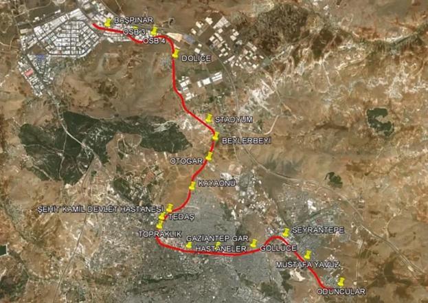 Mapa de Gaziray