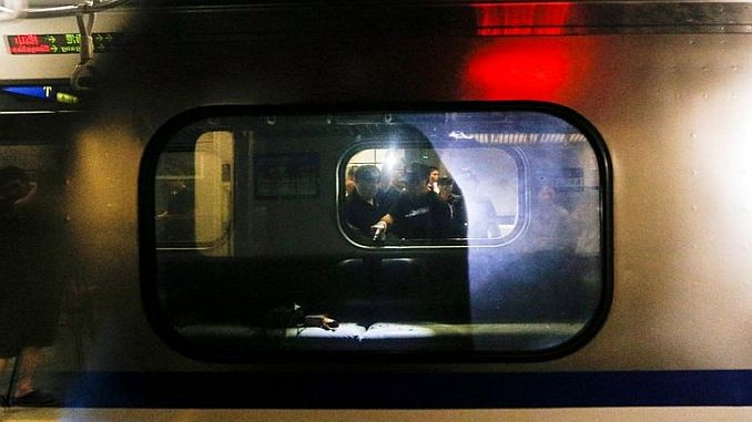 explosion wound on suburban train in Taiwan