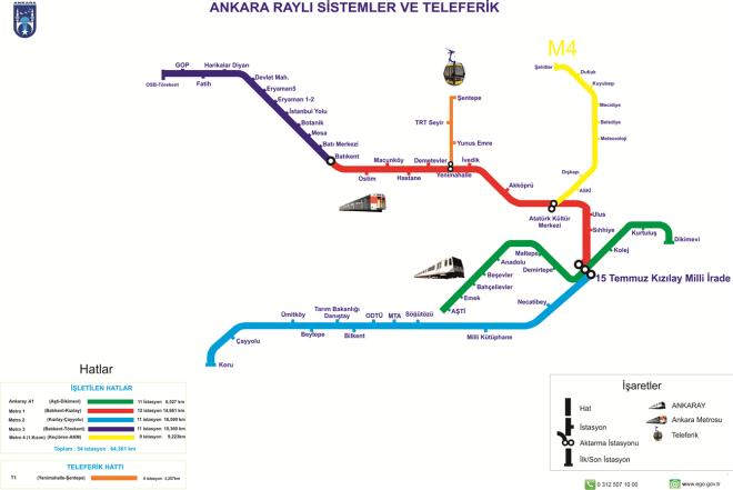 спират линиите на метрото в Анкара