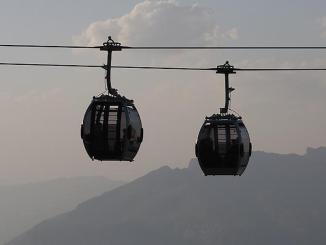 Ropeway in the Alps