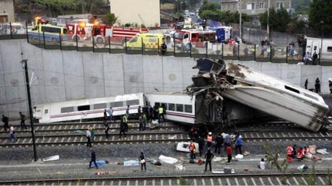حادث قطار اسبانيا
