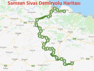 samsun sivas järnvägskarta