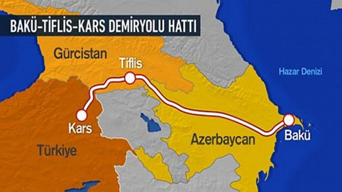 baku tiflis moved the caravan with railway rail freight cars