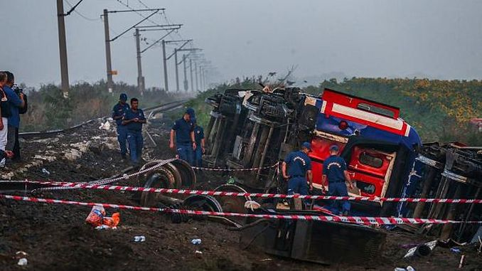 the number of dead in the train accident