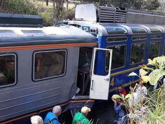 Перуда два железнодорожных бампера 23 ранены
