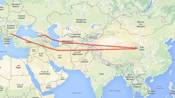 silk road project map