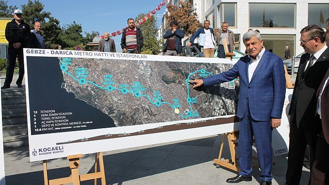 traffic density will be eliminated by gebze darica metro project