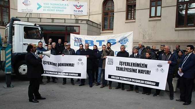btsden reagéiert mat der Evakuéierung vun enger Gebitt am Ankara Zuch