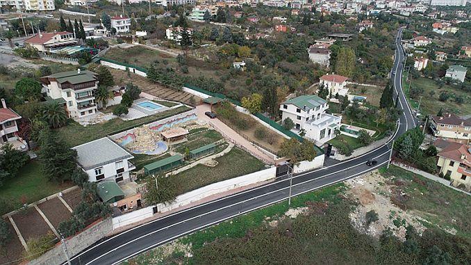 Eskihisar street has been destroyed