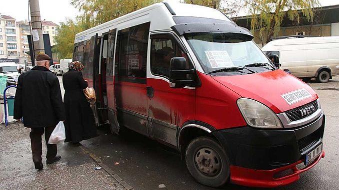 Eskisehir de minibus changes