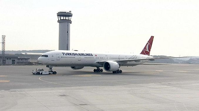 first scheduled scheduled flight from istanbul airport