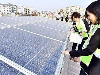 japon heyet eshotun gunes enerjisi santralini gezdi