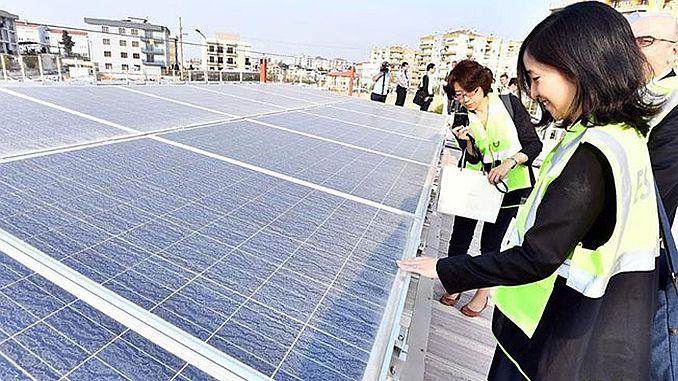 japanese delegation has visited the eshotun solar power plant