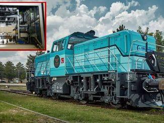Der kritische Teil der Lokomotive wurde mit dem Traktionsumrichter hergestellt.
