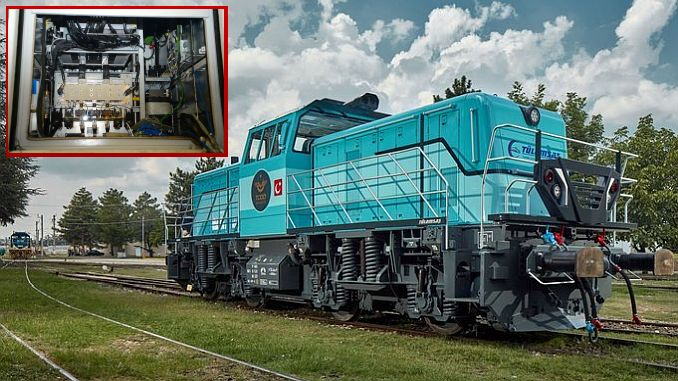 The critical part of the locomotive was manufactured with the traction converter.