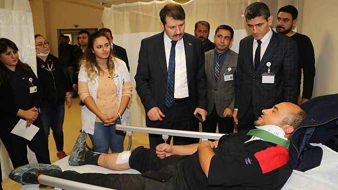 sivas governor ayhan visited the wounded in the train accident