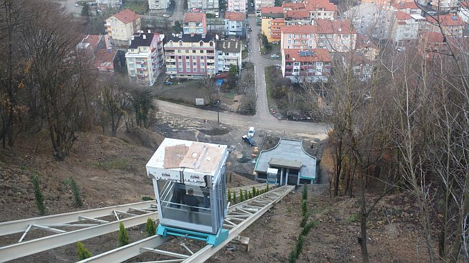 first time with funicular in the caycuma hospital