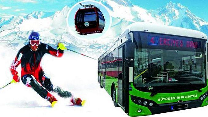 erciyes ski center bus service starts
