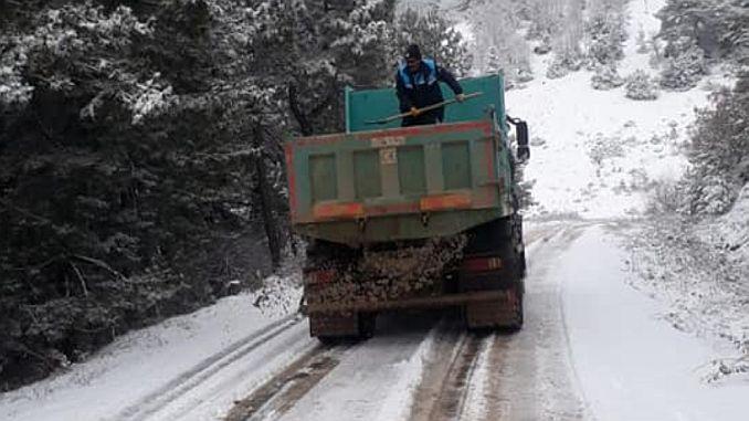 الطريق جورد في القتال الثلوج