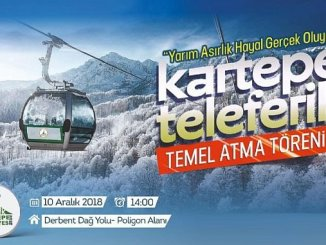 Karting's 50 Yilsik is shooting the first dig in the fictitious cable car project