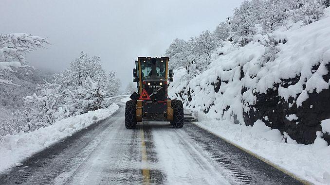 orduda 92 ekiple kar mucadelesi devam ediyor
