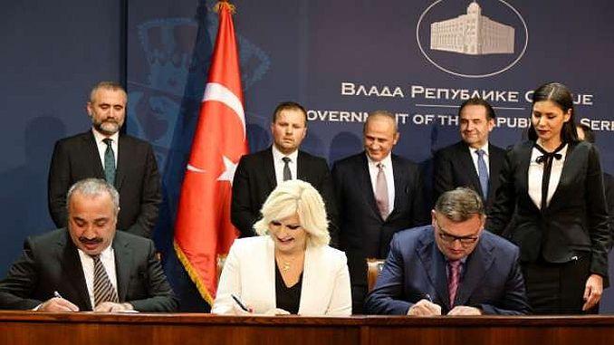 была подписана Сербия индейка с соглашением между строительством автомагистрали