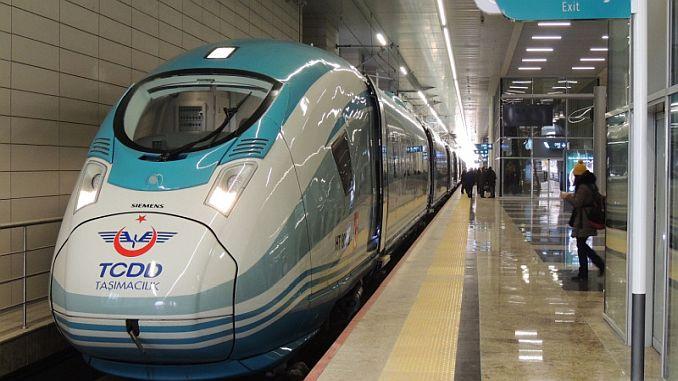 high-speed train journey