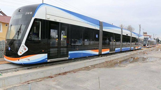 first test suru in 3 stage rail system line in antalya