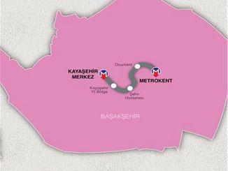 สายรถไฟใต้ดิน basaksehir kayasehir